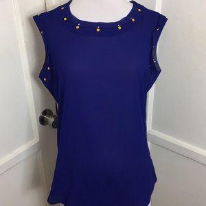 Indigo blouse with gems